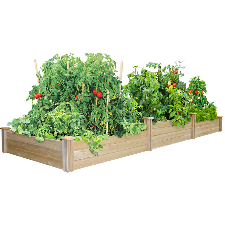Greenes Fence Dovetail Tall Tieres Cedar Raised Garden Bed
