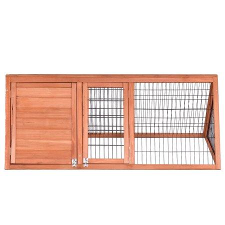 Animal Weight - GHP Natural Fir Wood & Galvanized Wire Lightweight & Portable Animal Rabbit Hutch