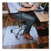 ES Robbins 36 x 53 Sit or Stand Mat for Carpet and Hard Floor, Rectangular, Clear/Black