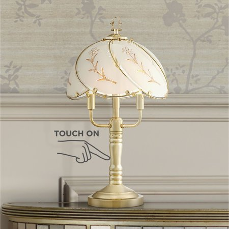 Dome Glass Table Lamp (Regency Hill Traditional Accent Table Lamps 19 1/2