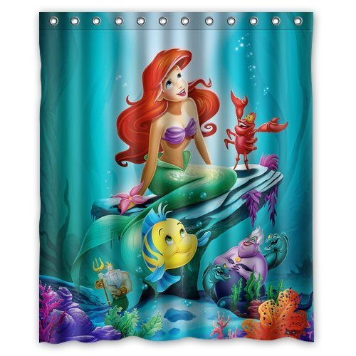 DEYOU The Little Mermaid Ariel Shower Curtain Polyester Fabric Bathroom Shower Curtain Size 60x72 inches