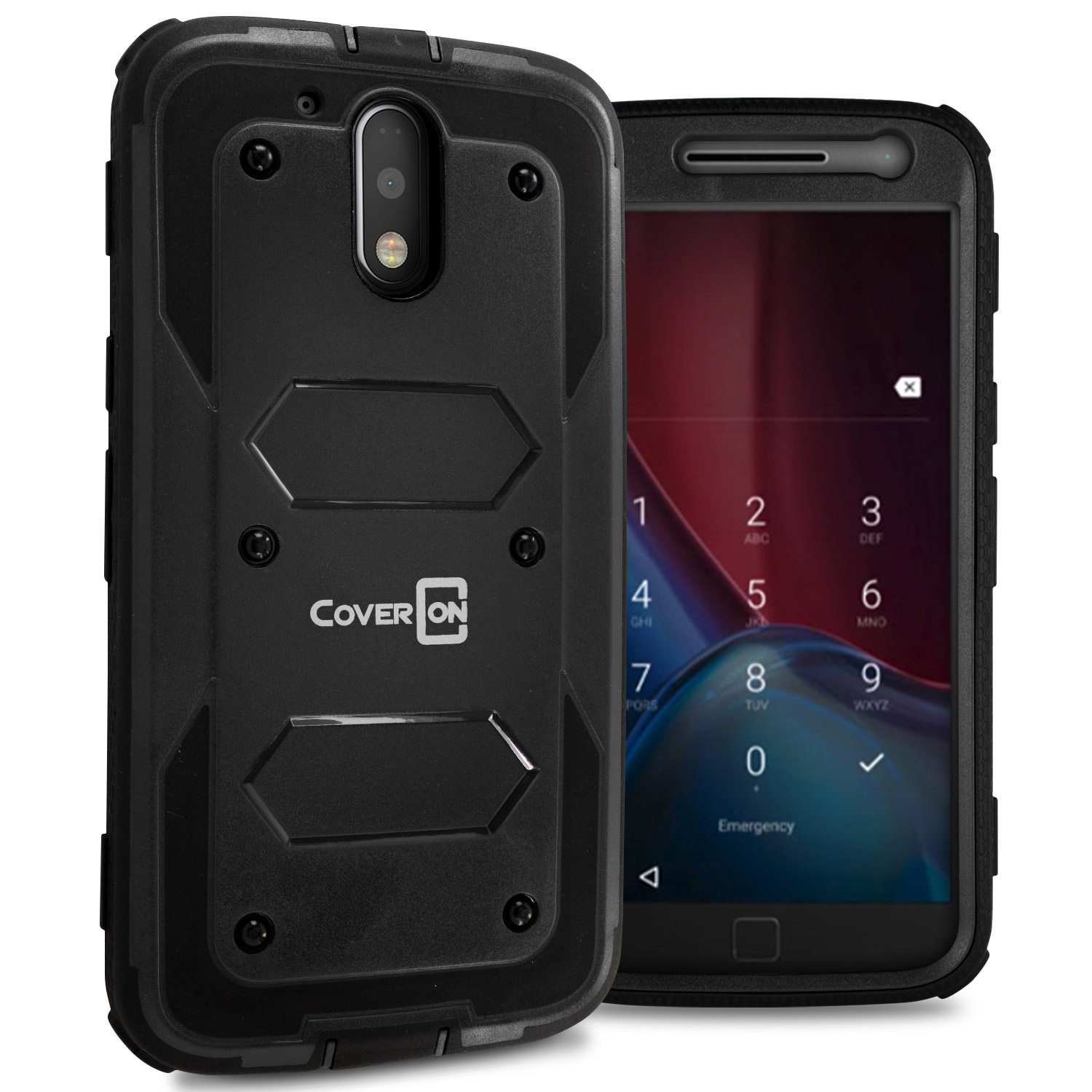CoverON Motorola Moto G4 / G4 Plus / G 4th Gen Case, Tank Series Hard Protective Armor Phone Cover