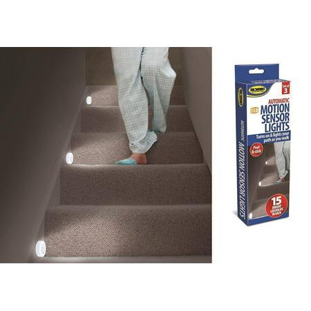 3 Motion Sensor Lights Stairs Path Night LED Automatic Hall Hallway Bathroom NEW