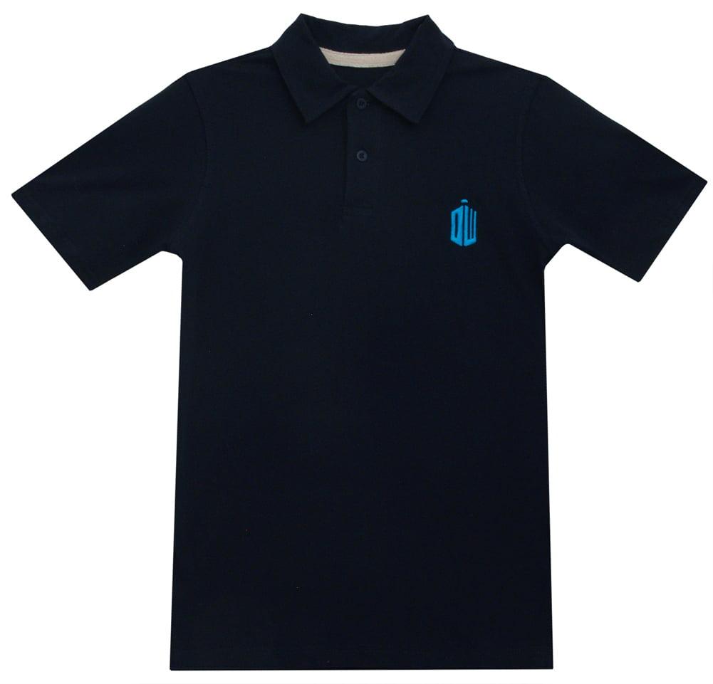 Doctor Who Tardis Logo TV Series Ripple Junction Adult Polo T-Shirt Tee - image 1 de 1
