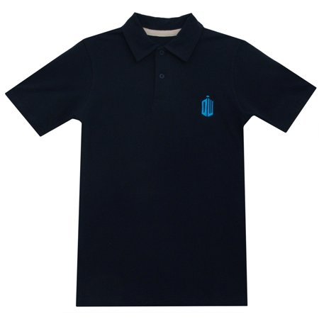 Doctor Who Tardis Logo TV Series Ripple Junction Adult Polo T-Shirt Tee