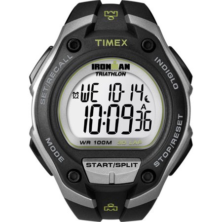 Timex Men's Ironman Classic 30 Oversized Watch, Black Resin Strap