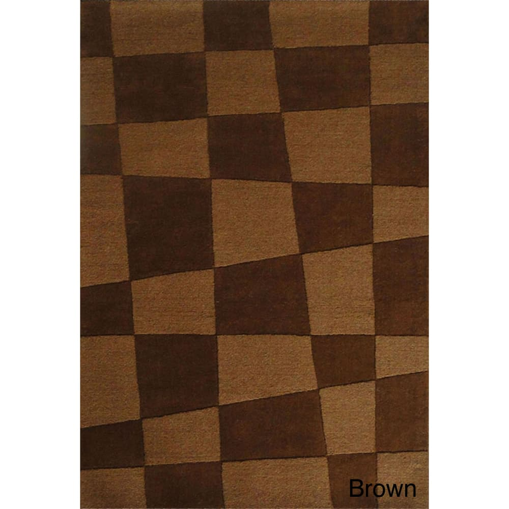 Jovi Home  Hand-tufted Structure Wool Rug (8' x 11') - 8' x 11'