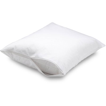Mainstays Microfiber Zippered Pillow Protector, 1 Each