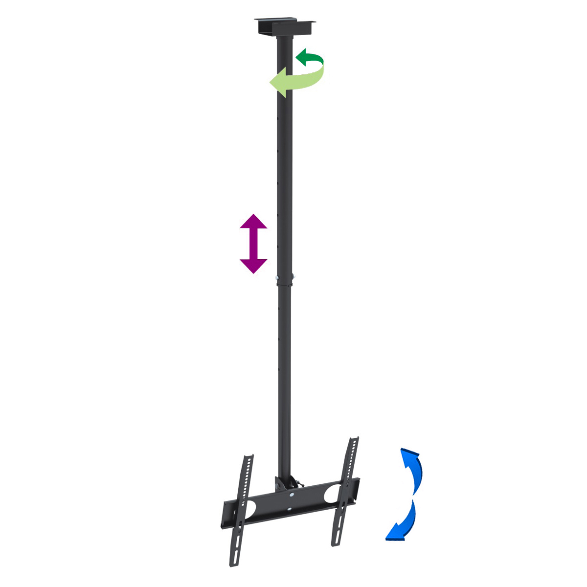 "InstallerParts Flat TV Ceiling Mount 32""~55"" Tilt/Swivel ..."