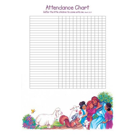 Attendance Chart-Let The Little Children Come To Me w/Mark 10:14 (20