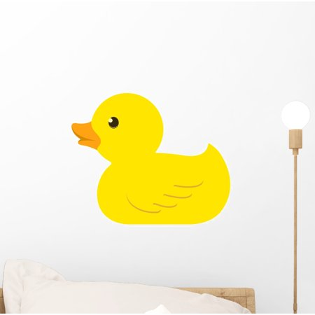Rubber Duck Wall Decal Mural by Wallmonkeys Peel and Stick Graphic (12 in W x 10 in H) WM103814