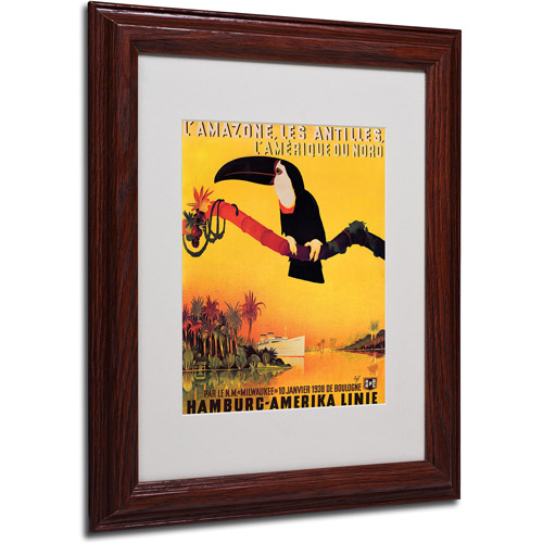 Trademark Fine Art 'L'Amazone' Framed Matted Art by Peter Fussey