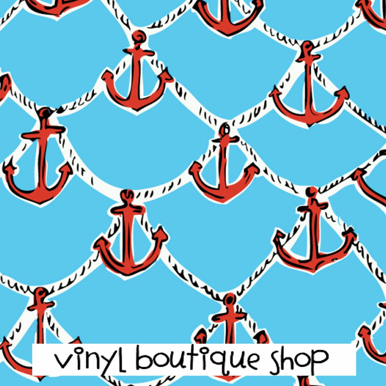 Anchor Patterns Lilly Inspired Printed Patterned Craft Vinyl