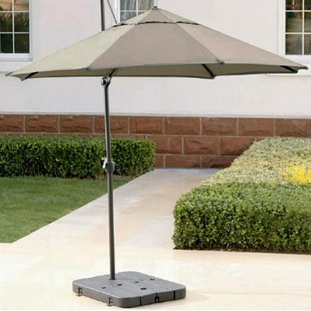 better homes and gardens seaside garden taupe offset umbrella 9 39