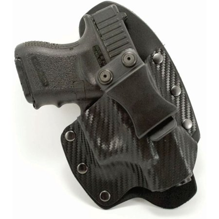 Outlaw Holsters: NT Hybrid Black Carbon Fiber Kydex & Leather IWB Gun Holster for Ruger LCR .38 Special, Right