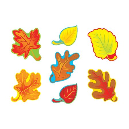 TREND enterprises, Inc. 42 Piece Fall Leaves Variety Classic Bulletin Board Cut Out - Fall Cut Outs