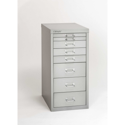 Bisley 8-Drawer Steel Multidrawer Storage Cabinet, Light Grey BDSMD8LG by Bindertek