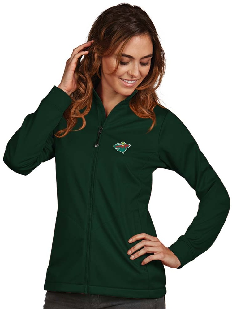 Minnesota Wild Antigua Women's Golf Full Zip Jacket Green by ANTIGUA GROUP/ 22534