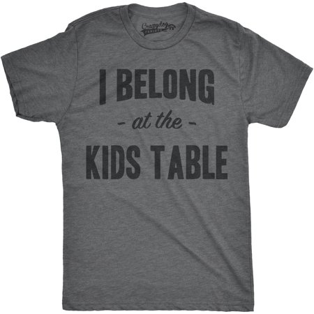 Kids Thanksgiving (Crazy Dog T-shirts Mens I Belong at the Kids Table Funny Family Thanksgiving Dinner T)