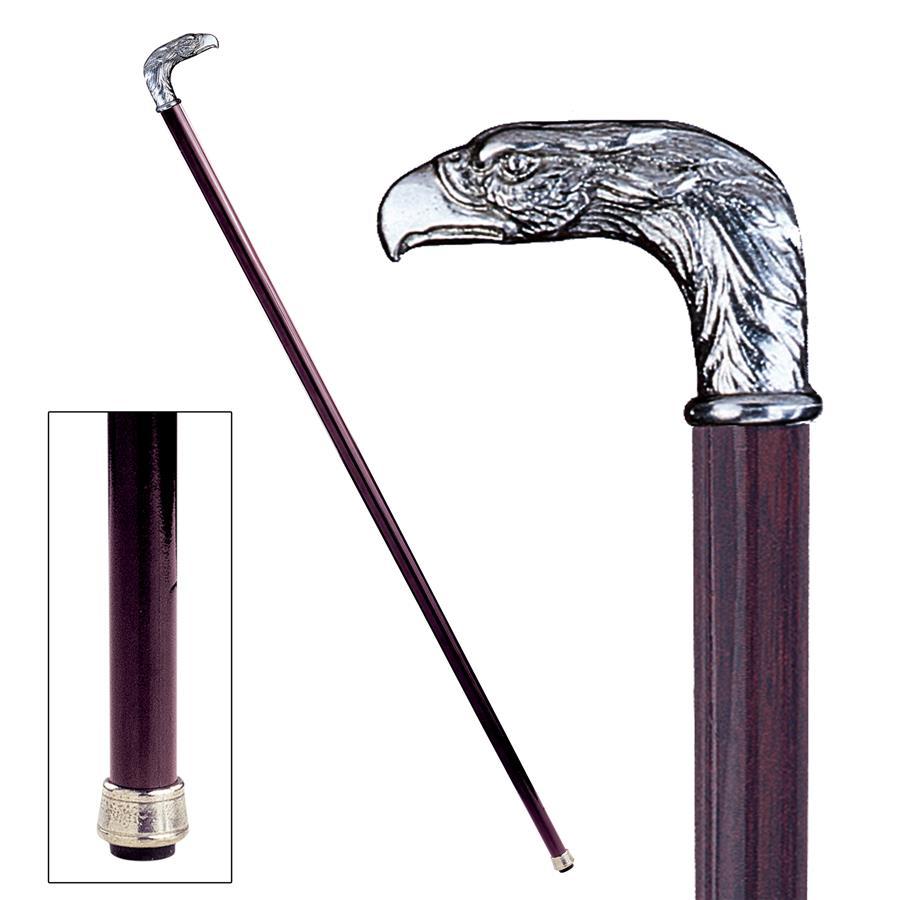 Eagle Pewter Walking Stick