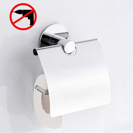 Gricol Self Adhesive Toilet Paper Holder Stainless Steel Tissue