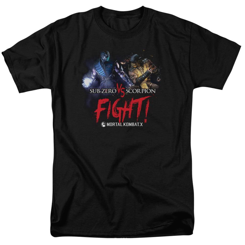 Mortal Kombat X Fight Mens Short Sleeve Shirt