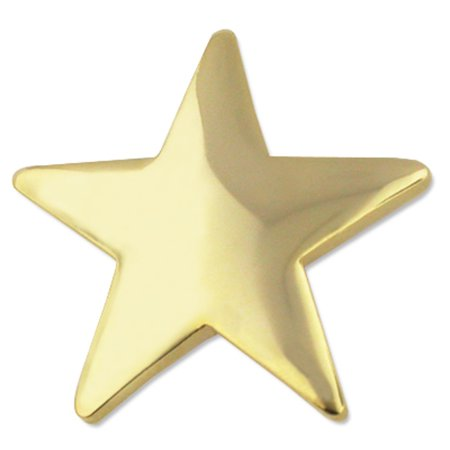 PinMart's Classic Shiny Gold Star Military Recognition Lapel (Star Lapel Pin)