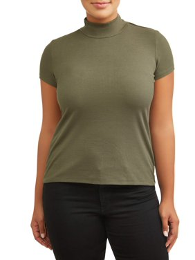c920c4113d9 Product Image Women s Plus Size Mock Neck Tee