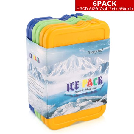 6 packs Reusable Ice Packs Cool Reusable Freezer Pack Latest Colorful Cold Packs