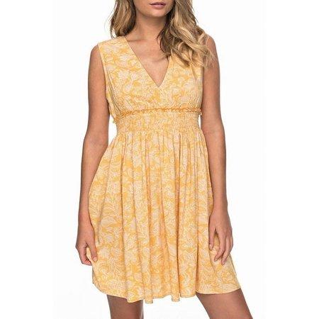 Womens Printed Smocked V-Neck Sheath Dress XS Smocked V-neck Dress