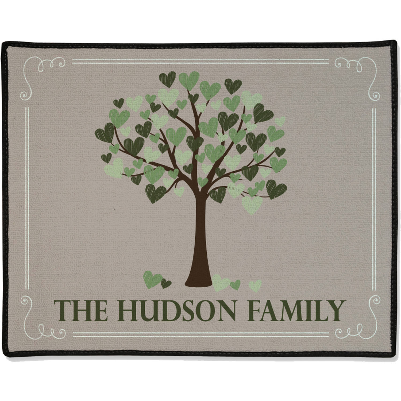 "Personalized Family Heart Tree Doormat, 19.5"" x 15.5"""