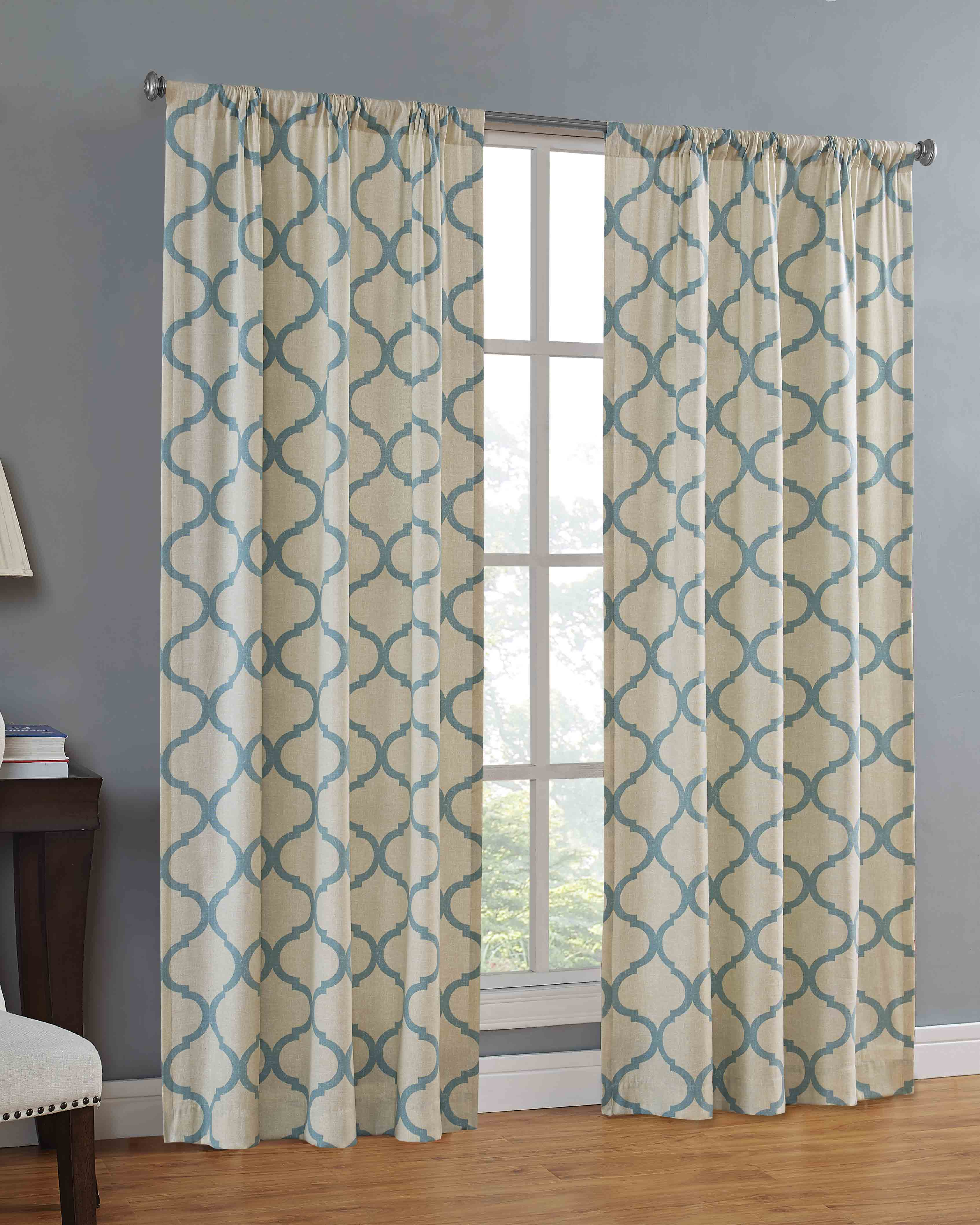 Mainstays Canvas Ironwork Curtain Panel by Keeco