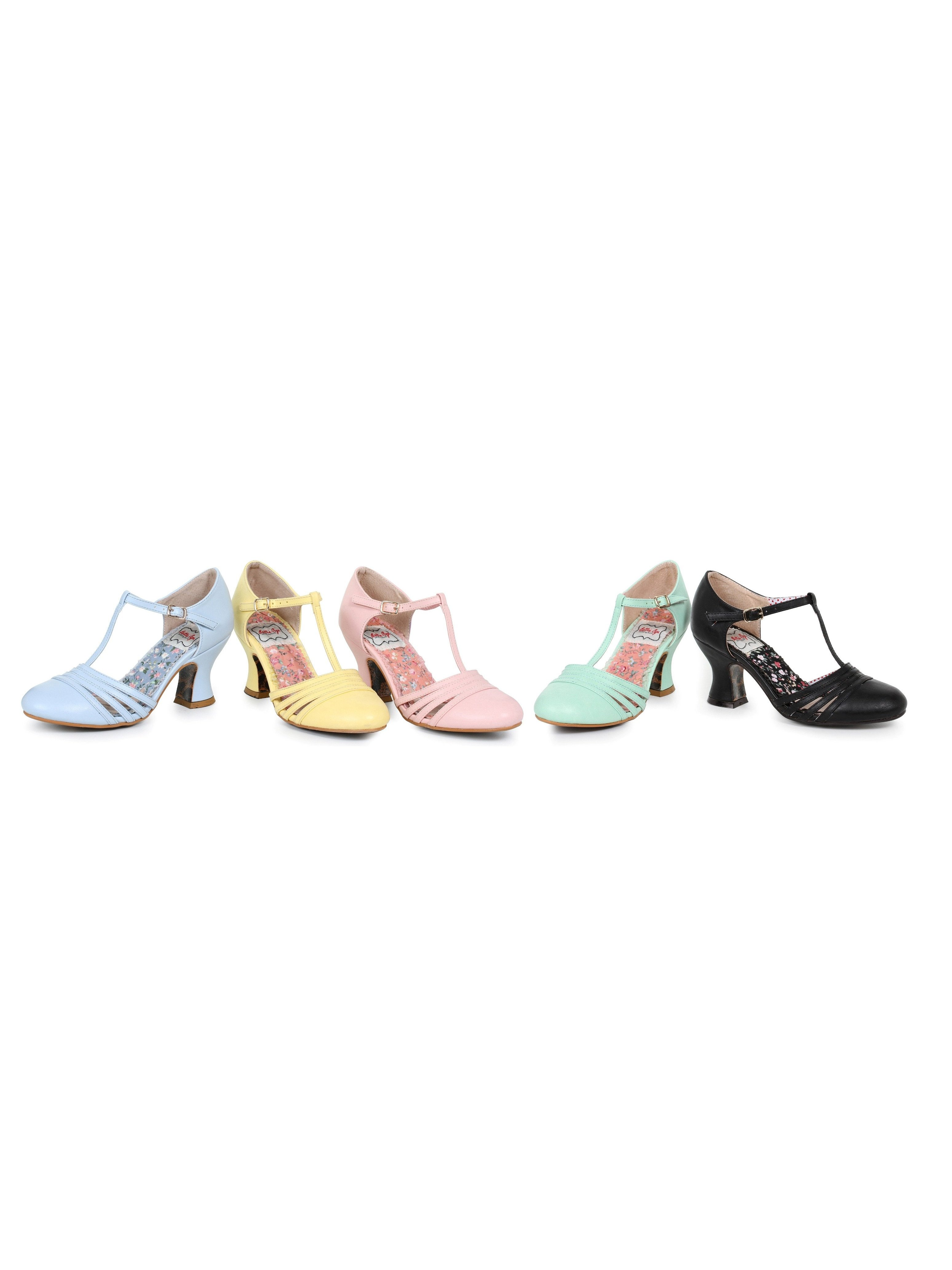 b6da8031352 Ellie Shoes E-BP254-Lucy 2.5 inch Womens T Strap Heel Pump Black / 10
