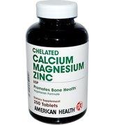 American Health Chelated Calcium & Magnesium with Zinc, 250 Ct