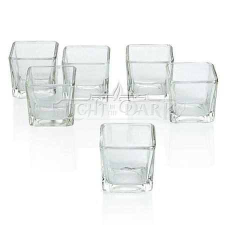 72 Glass Holders (Clear Glass Square Votive Candle Holders Set of)