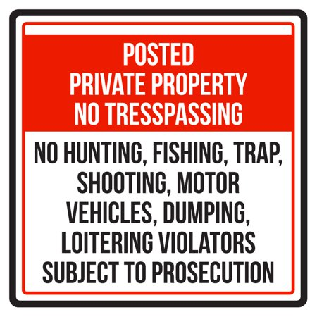 Moose Warning Sign - Posted Private Property No Trespassing Business Commercial Warning Square Sign - 9x9