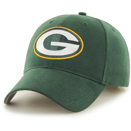 Men's Fan Favorite Green Green Bay Packers Mass Basic Adjustable Hat - - Bday Hats