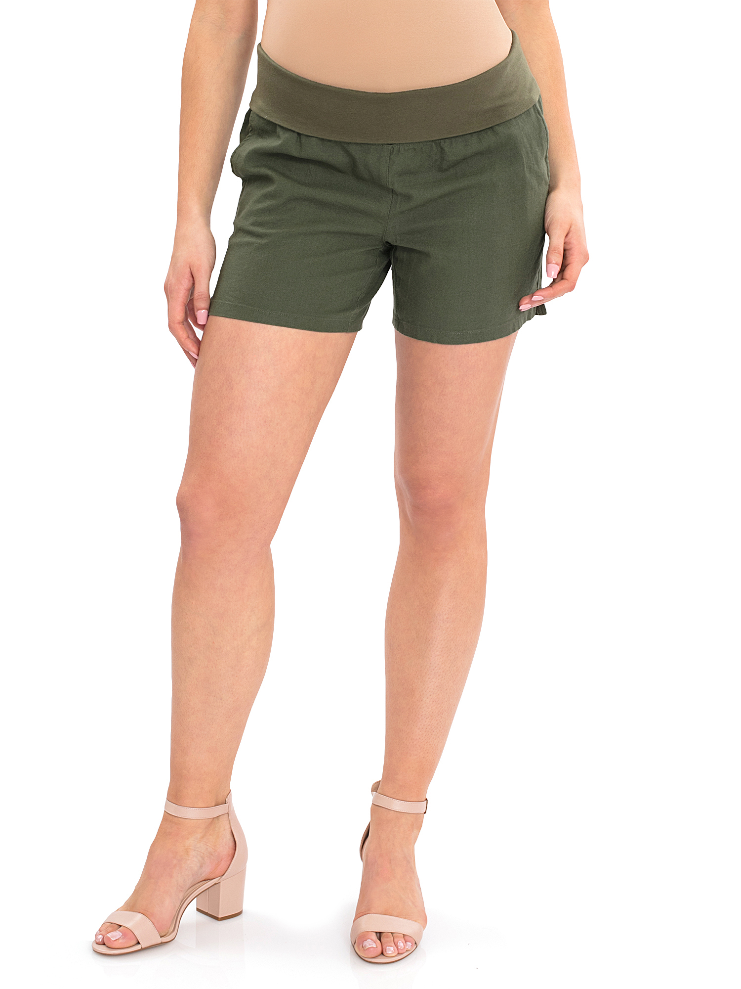 Maternity Woven Shorts by Generic