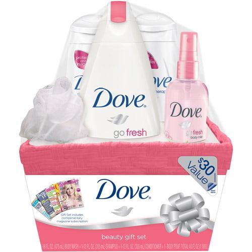 Dove Pomegranate & Lemon Verbena Gift Basket with Bonus Magazine Subscription (Value $30)