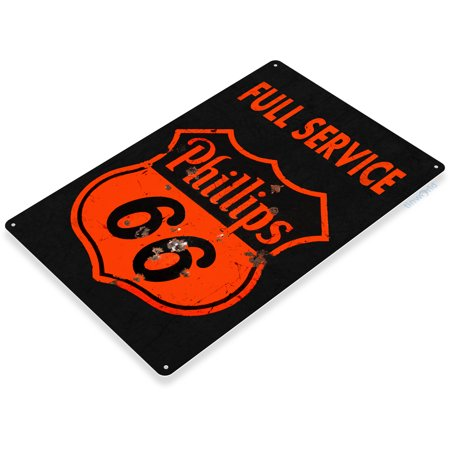 TIN SIGN Phillips 66 Rustic Gas Oil Metal Plaque Décor Fuel Station A760
