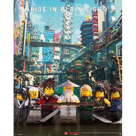 The LEGO Ninjago Movie - Mini Movie Poster / Print (Hide In Plain Sight) (Size: 16