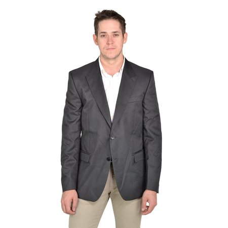 Versace Collection Men's Two Button Wool Sports Coat, Shiny (Versace Wool / Silk Coat)