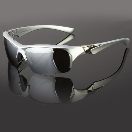 New Tundra Silver Mirrored Lens Wrap Design Mens Womens Sport Sunglasses - Mets Sunglasses