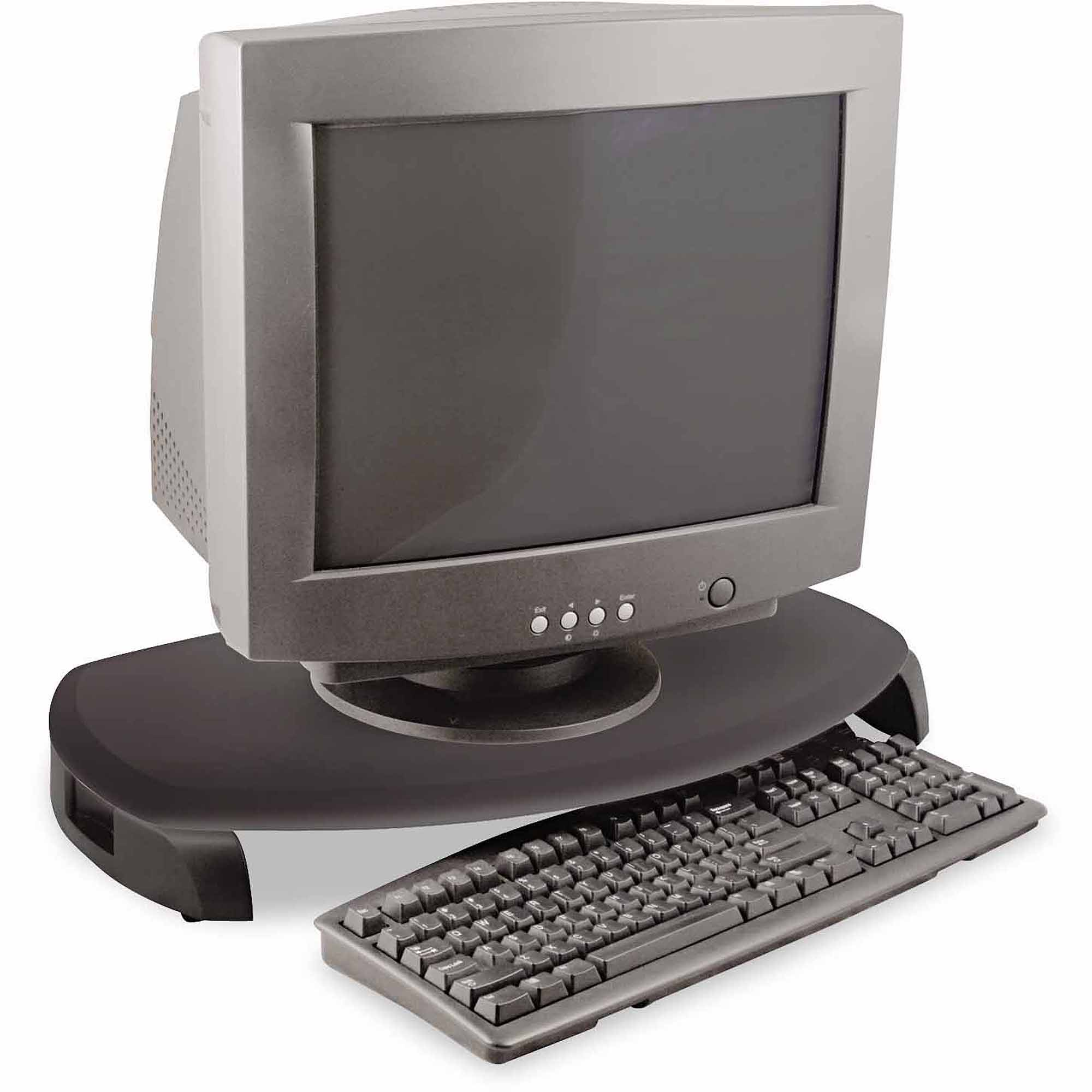 "Kantek CRT/LCD Stand with Keyboard Storage, 23"" x 13.25"" x 3"", Black"
