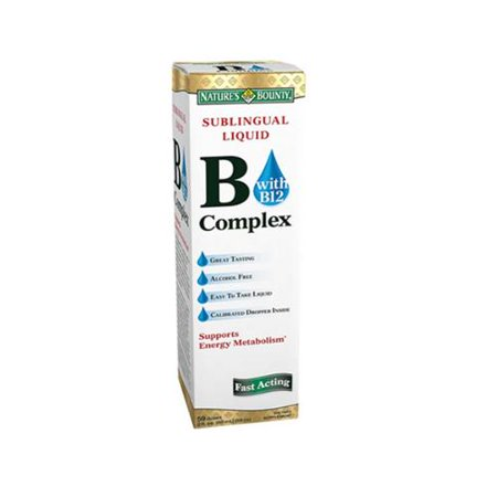 Nature's Bounty La vitamine B complexe sublinguale liquide 2 oz (Lot de 2)