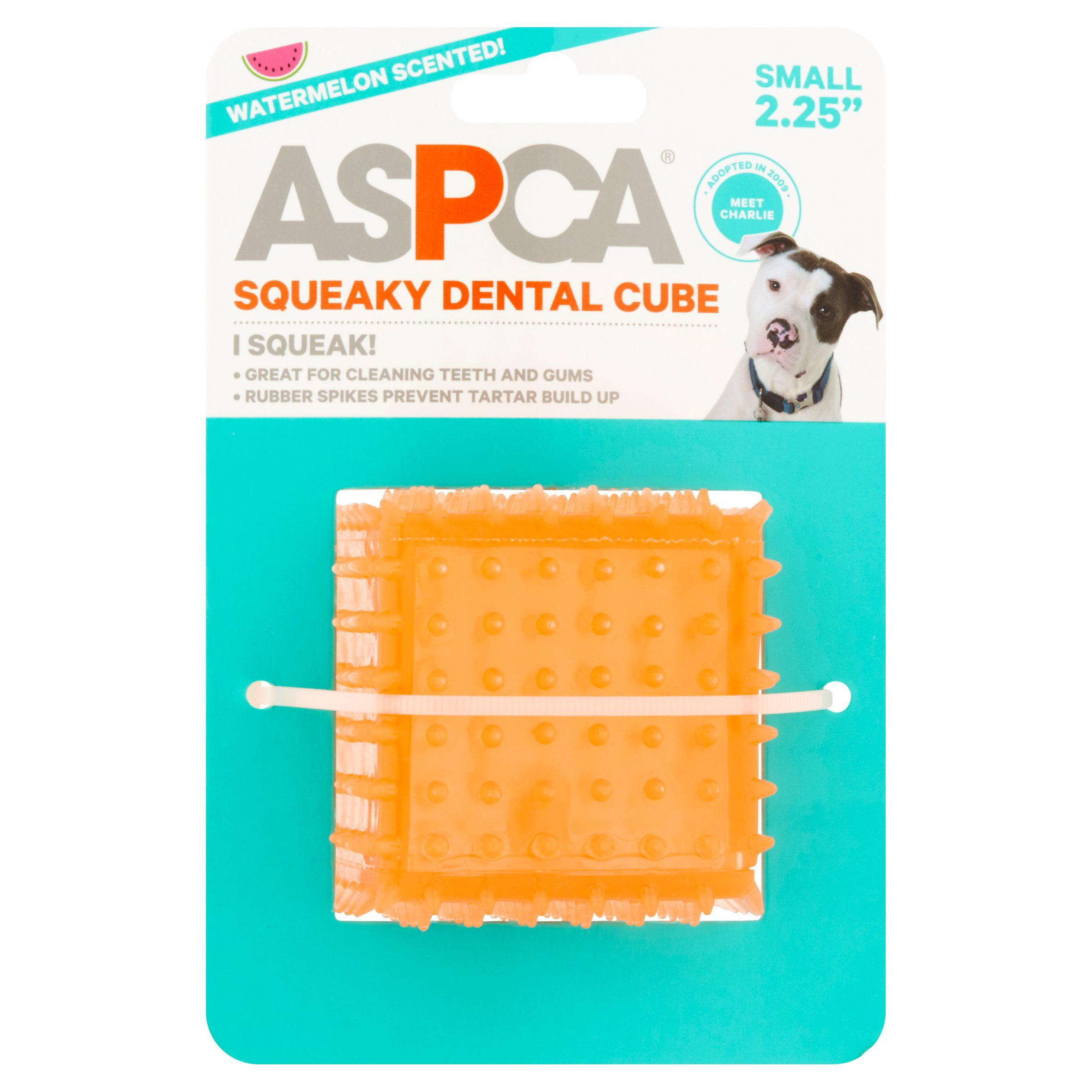 "ASPCA Small 2.25"" Pink Squeaky Dental Cube"