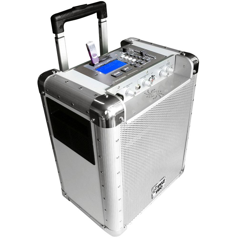 Pyle PCMX265W Battery Powered Portable Pa System With Usb...