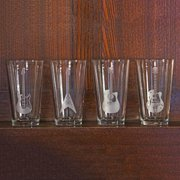 Susquehanna Glass Guitar Collection Pint Glasses (Set of 4)