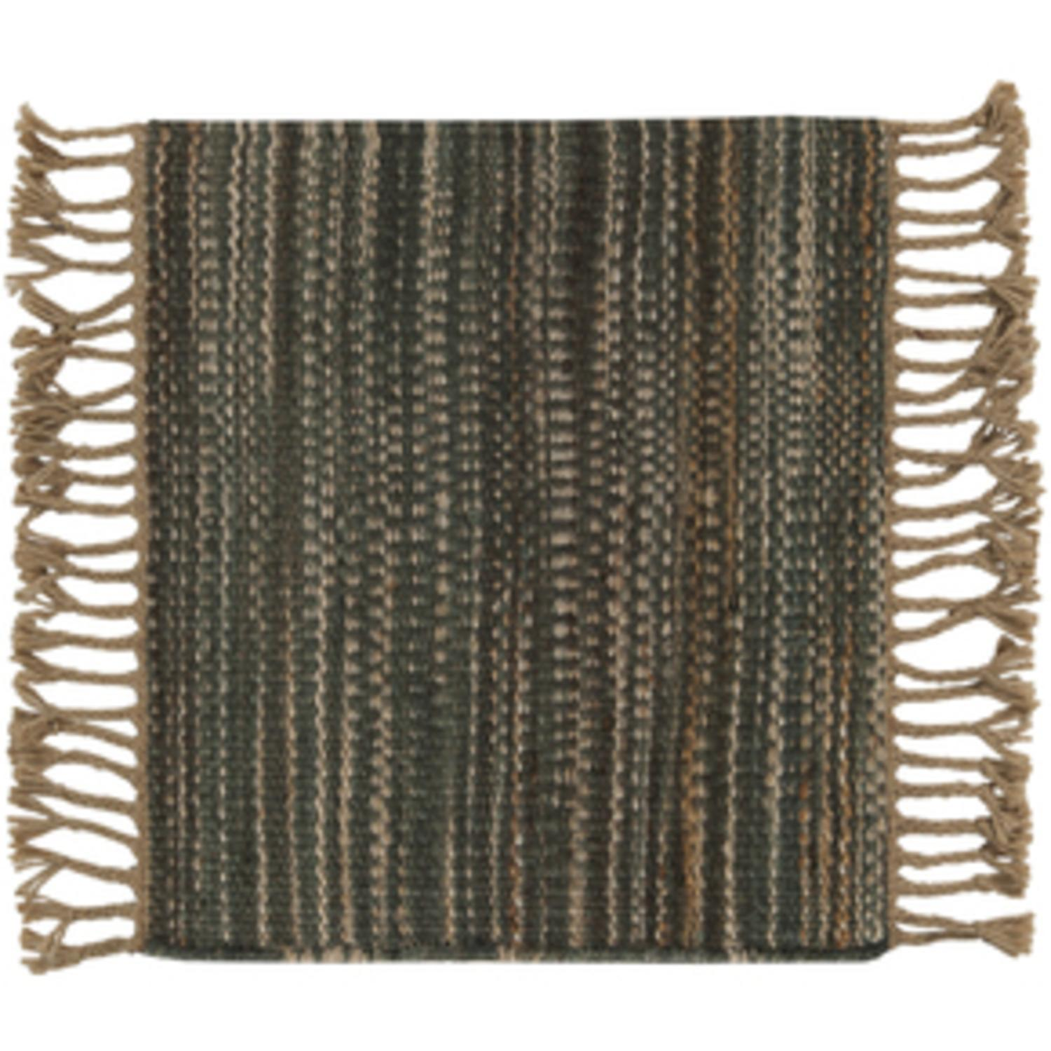 2.5' x 8' Vintage Style Green Area Throw Rug