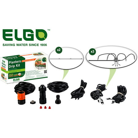 Elgo Planters Drip Kit for 3 to 4 Patio or Deck Planters ()